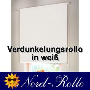 Verdunkelungsrollo Mittelzug- oder Seitenzug-Rollo 122 x 220 cm / 122x220 cm weiss - Vorschau 1