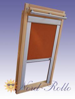 Verdunkelungsrollo Rollo mit Seitenschienen für Velux DKL-EP GGL, GPL, GHL, GTL C02 terracotta