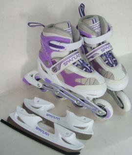 Eislauf-Inliner SKATER 2 in 1
