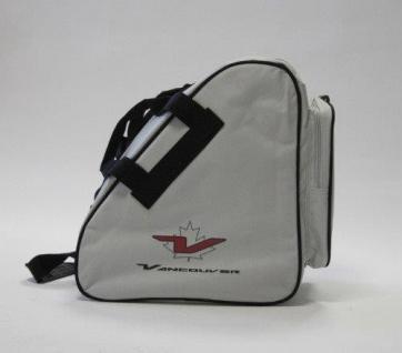 Schlittschuhtasche und Inlinerskatertasche VANCOUVER Silber und Schwarz