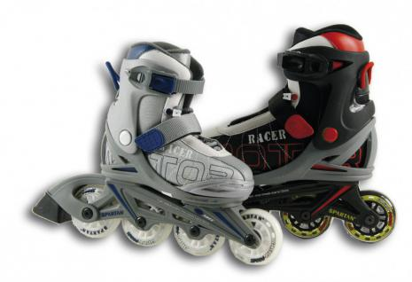 INLINER SKATER VERSTELLBAR GRÖSSE MODEL-RACER Farbe-schwarz