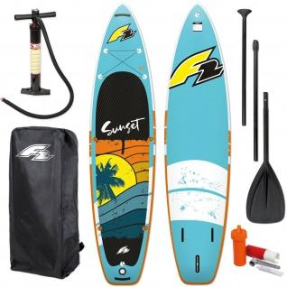 F2 SUP Board-Set 2021 SUNSET AUFBLASBARES TOP-Angebot 525 Art. 801059