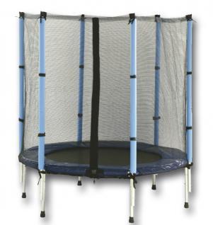 Kindertrampolin mit Netz, blau, schwarz, Ø 1,40 m
