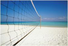 Beachvolleyball-Set Netz+Stangen+Spielfeldlinien