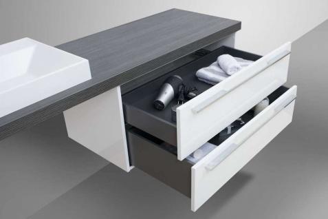 Design Badmöbel Set Waschtischkonsole Waschtischplatte nach Maß in Pinie Anthrazit - Vorschau 5