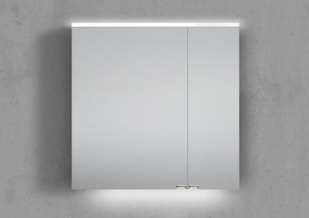 Spiegelschrank 60 cm integrierte LED Beleuchtung doppelseitig verspiegelt