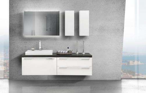 Design Badezimmereinrichtung mit Waschtischplatte nach Maß inkl. Oberschränke