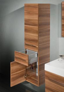 Design BadmÖbel Set Mit Spiegel BadezimmermÖbel Waschbecken Doppelwaschtisch 120 - Vorschau 4