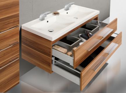 BadmÖbel Set BadezimmermÖbel Salerno Design Badset 120 Cm Doppelwaschtisch Neu - Vorschau 4
