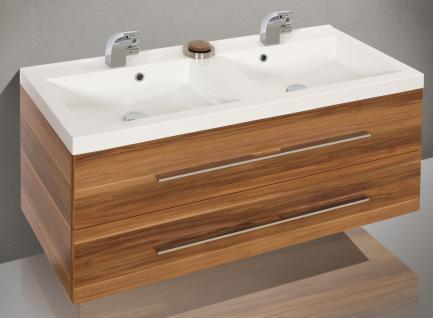 BadmÖbel Set BadezimmermÖbel Salerno Design Badset 120 Cm Doppelwaschtisch Neu - Vorschau 3