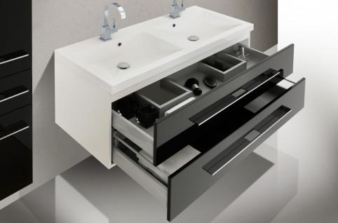design badm bel set mit spiegel badset waschbecken doppelwaschtisch 120 cm kaufen bei intar. Black Bedroom Furniture Sets. Home Design Ideas