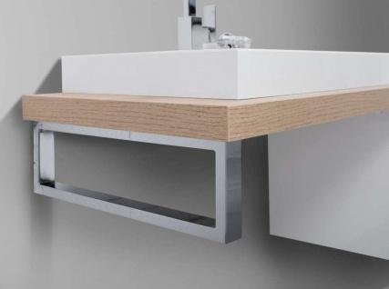 Badmöbel nach Maß Waschtischplatte mit Unterschrank Konsolenträger, ohne Aufsatzwaschtisch - Vorschau 4