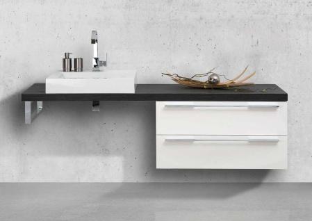 Design Badmöbel Set Waschtischkonsole Waschtischplatte nach Maß in Pinie Anthrazit - Vorschau 1