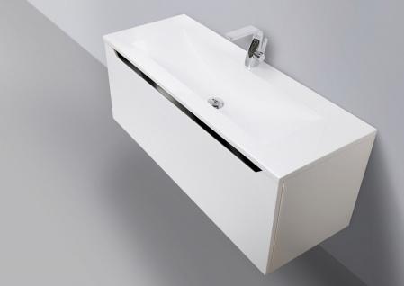 Badmöbel Set 120 cm Waschtisch mit Unterschrank grifflos - Vorschau 2