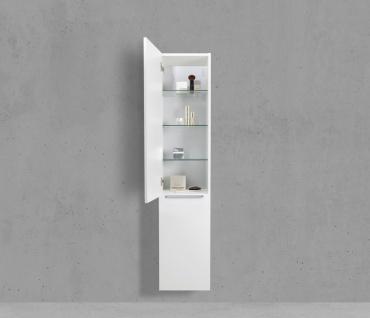 Hochschrank Seitenschrank mit Wäschekippe H/B/T: 160/40/32, 5cm Weiß Hochglanz Lack