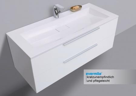 Badmöbel Set 120 cm Waschtisch Evermite, mit Unterschrank und Led Lichspiegel - Vorschau 3