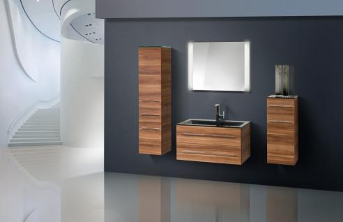 BadmÖbel Set BadezimmermÖbel Design Badset Inkl. Glaswaschtisch 90 Cm Neu - Vorschau 1