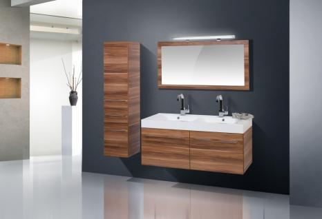 BadmÖbel Set Komplett BadezimmermÖbel Design Badset 120 Cm Doppelwaschtisch Neu - Vorschau 1