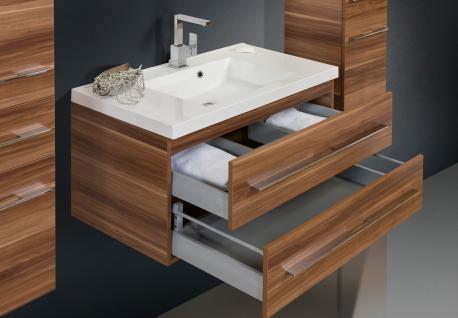 BadmÖbel Set Komplett Design BadezimmermÖbel Inkl. Lichtspiegel + Waschtisch Neu - Vorschau 3
