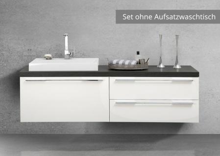 Waschtischplatte Badmöbel Set nach Maß mit Unterschränken, ohne Aufsatzwaschtisch