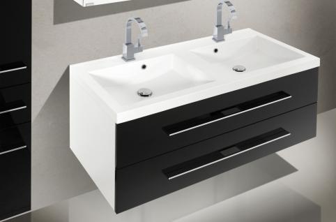 BadmÖbel Set BadezimmermÖbel Design Badezimmer Waschbecken 120 Doppelwaschtisch - Vorschau 3