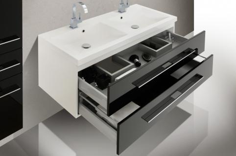 BadmÖbel Set BadezimmermÖbel Design Badezimmer Waschbecken 120 Doppelwaschtisch - Vorschau 4