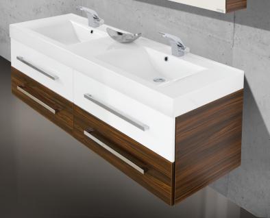 BadmÖbel Set Salerno BadezimmermÖbel Badset + 160cm Großer Doppelwaschtisch Neu - Vorschau 3