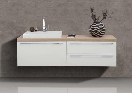 Badmöbel Set Waschtischplatte Waschtischkonsole nach Maß mit Waschtisch und Unterschränken