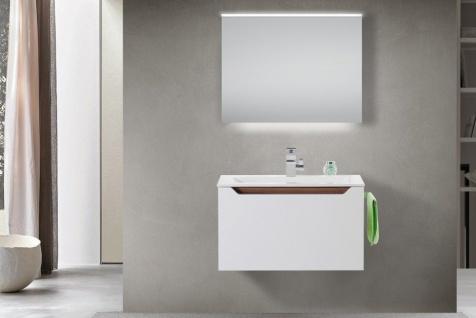 Design Badmöbel Set Waschtisch Griffleiste: Nussbaum Tiepolo