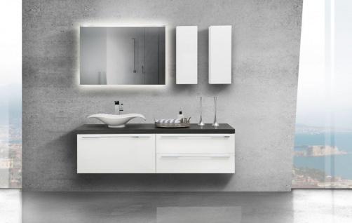 Design Badezimmermöbel mit modernem Aufsatzwaschtisch, Waschtischunterschrank und Lichtspiegel