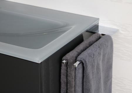 Doppel Handtuchhalter Bad Chrom Design Handtuchstange - Vorschau 3