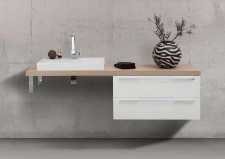 Waschtischplatte nach Maß Design Badmöbel Set mit Waschbecken