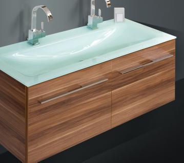 BadmÖbel Set BadezimmermÖbel Badset 120 Cm Glas- Doppelwaschtisch & Lichtspiegel - Vorschau 3
