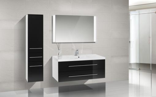 BadmÖbel Set Badset Design BadezimmermÖbel Waschbecken + Lichtspiegel 120 Cm Neu - Vorschau 1