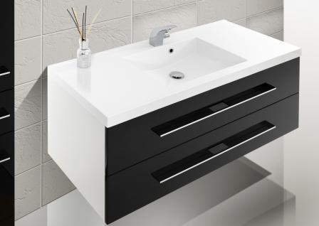 BadmÖbel Set Badset Design BadezimmermÖbel Waschbecken + Lichtspiegel 120 Cm Neu - Vorschau 3