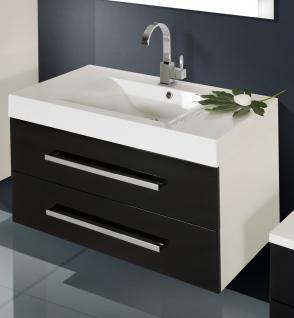 BadmÖbel Set Komplett BadezimmermÖbel Design Badset Inkl. 90 Cm Waschbecken Neu - Vorschau 3
