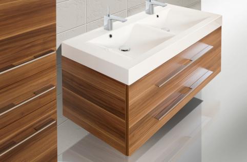 BadmÖbel Set Badset Design Komplett BadezimmermÖbel Doppelwaschtisch 120 Cm Neu - Vorschau 3