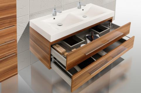 BadmÖbel Set Badset Design Komplett BadezimmermÖbel Doppelwaschtisch 120 Cm Neu - Vorschau 4