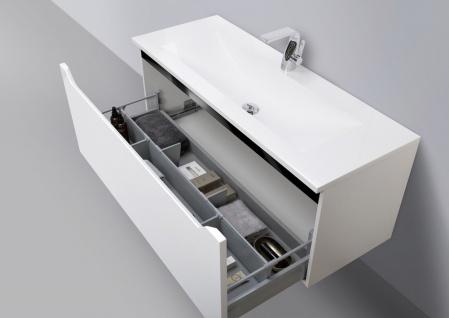 Badmöbel Set 120 cm Waschtisch mit Unterschrank grifflos - Vorschau 3
