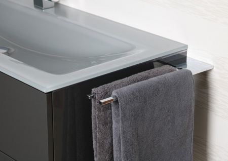 Doppel Handtuchhalter Bad Chrom Design Handtuchstange - Vorschau 1