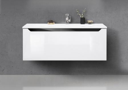 Badmöbel Set 120 cm Waschtisch mit Unterschrank grifflos