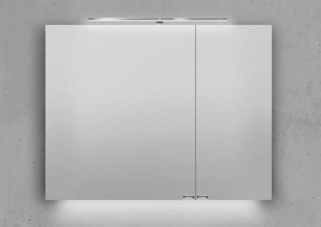 Spiegelschrank 90 cm LED Beleuchtung mit Farbwechsel doppelseitig verspiegelt