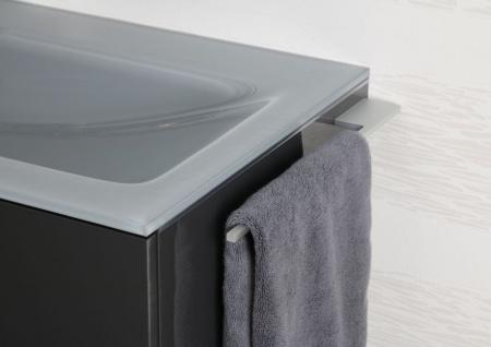 Handtuchhalter Bad aus Aluminium Design Accessoire Badetuchstange - Vorschau 3