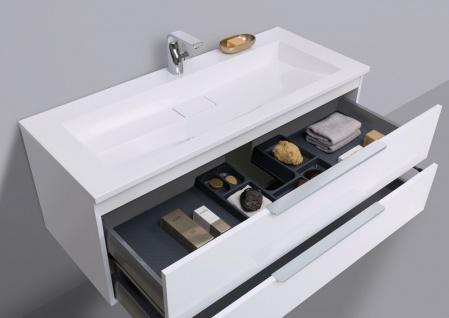 Badmöbel Set 120 cm Waschtisch Evermite, mit Unterschrank und Led Lichspiegel - Vorschau 5