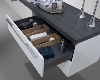 Design Badmöbel Set Waschtischkonsole Waschtischplatte nach Maß in Pinie Anthrazit - Vorschau 4