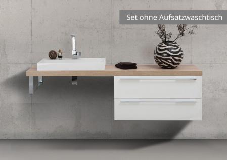 Badmöbel nach Maß Waschtischplatte mit Unterschrank Konsolenträger, ohne Aufsatzwaschtisch - Vorschau 1