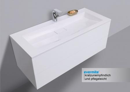 Badmöbel Set grifflos CUBO 1200 mm Waschtisch Evermite, Unterschrank und Led Spiegel - Vorschau 3