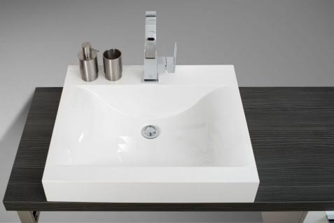 Badezimmermöbel Set mit Design Waschbecken, Lichtspiegel und Hochschrank - Vorschau 3