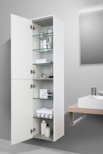 Badezimmermöbel Set mit Design Waschbecken, Lichtspiegel und Hochschrank - Vorschau 4