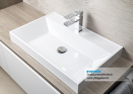 Badezimmer Set mit LED Lichtspiegel, Unterschrank und Waschtischplatte nach Maß in Eiche - Vorschau 2
